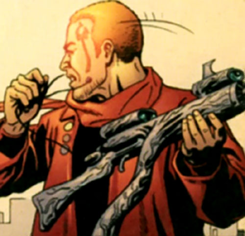 Condition Red of the Monarchy (Wildstorm Comics) with his carbine