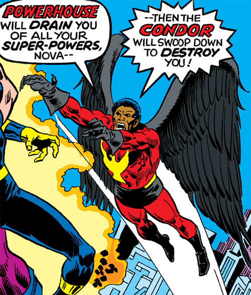 Condor (Nova enemy) (Marvel Comics) flies to the attack