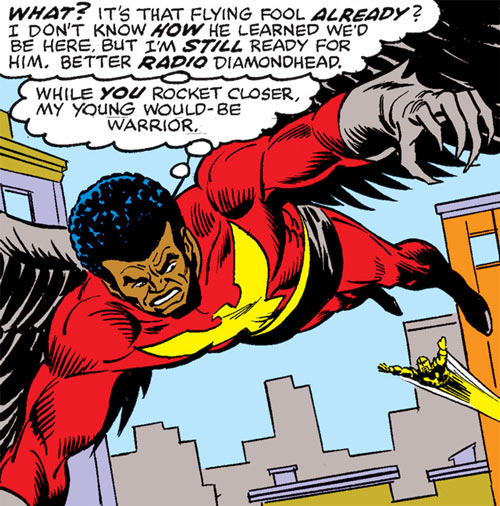 Condor (Marvel Comics) chased by Nova