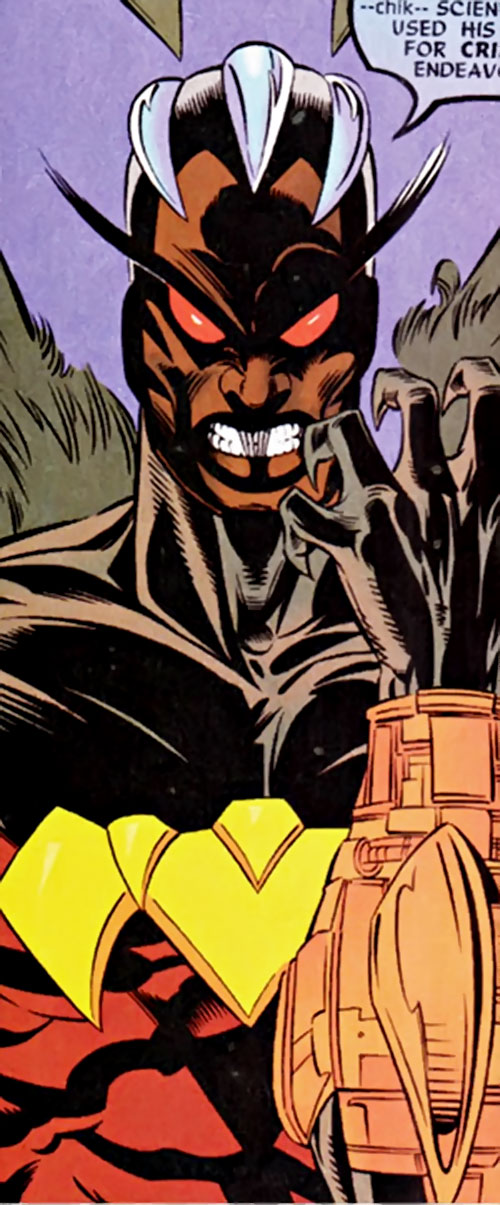 Condor (Nova enemy) (Marvel Comics) mutated face closeup