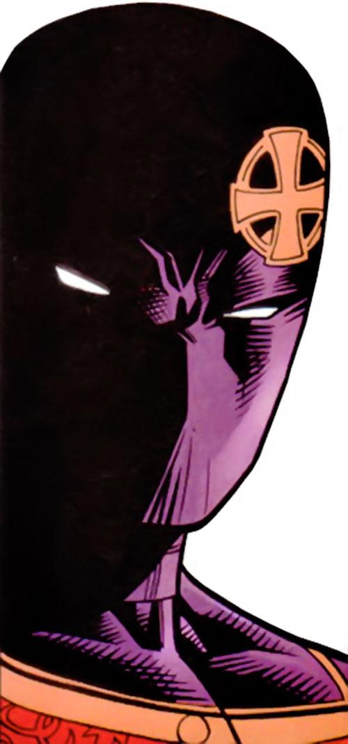 Confessor of the KGB (Maverick enemy) (Marvel Comics) mask closeup