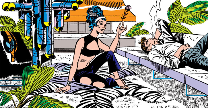 Contessa Valentina Allegra de la Fontaine of SHIELD (Marvel Comics) classic - Nick Fury apartment