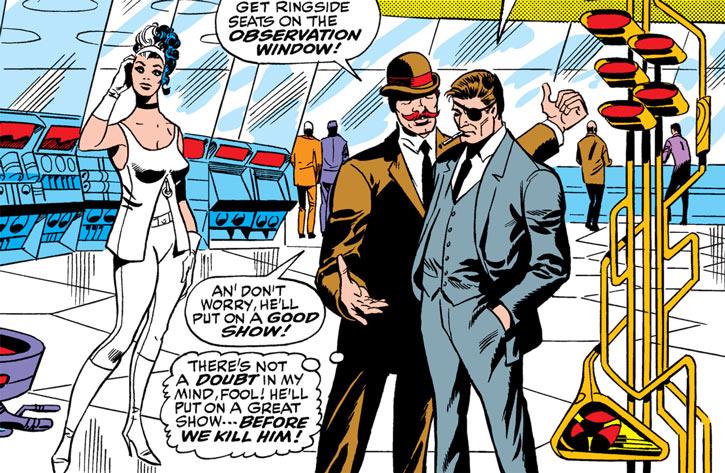 Contessa Valentina Allegra de la Fontaine of SHIELD (Marvel Comics) classic - in white with Fury and Dum-Dum