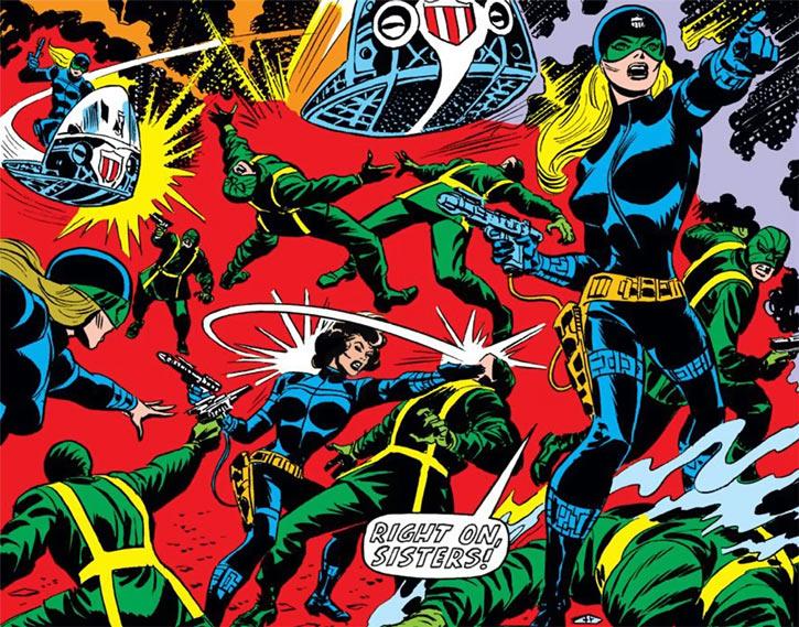 Contessa Valentina Allegra de la Fontaine of SHIELD (Marvel Comics) classic - Femme Force attack