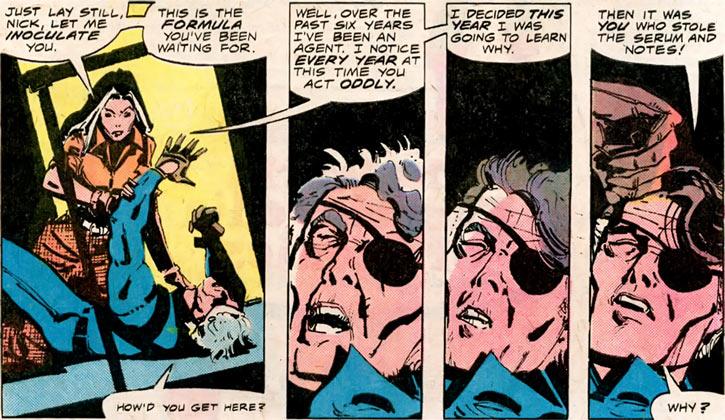 Contessa Valentina Allegra de la Fontaine of SHIELD (Marvel Comics) classic - Saving Nick Fury from age