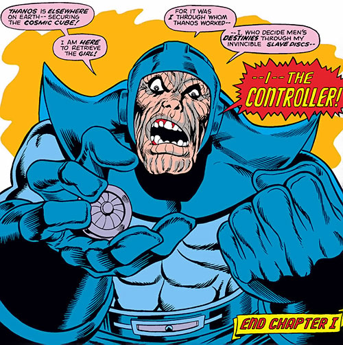 Controller (Iron Man enemy) (Marvel Comics) with a slave disc