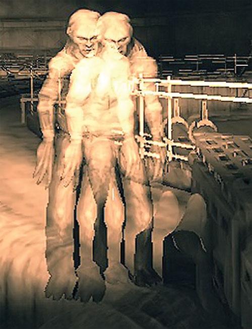 Visual distortion around a Controller mutant in STALKER
