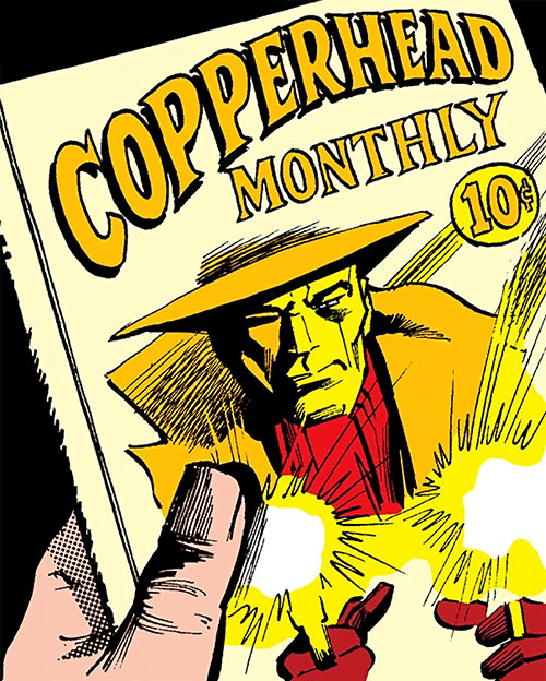 Copperhead (Chesney) (Daredevil enemy) (Marvel Comics) pulp cover