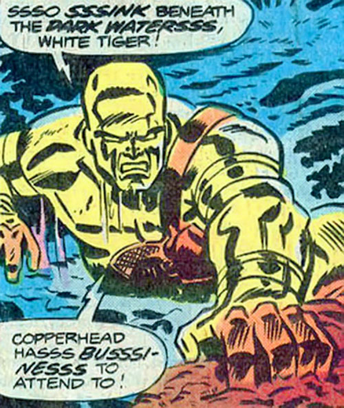 Copperhead (Reynolds) (Daredevil enemy) (Marvel Comics)