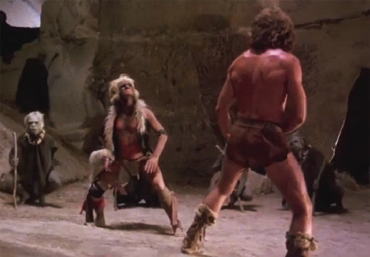 Cord (Jeff Cooper in the The Iron Circle movie) fights the Monkey King