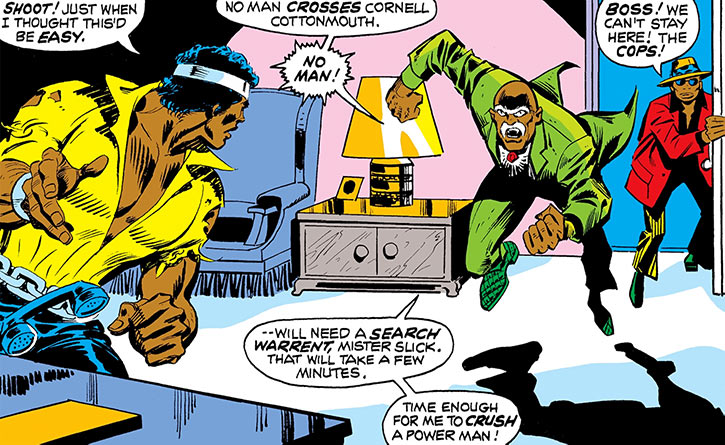 Cornell Cottonmouth (Marvel Comics) in the 1970s with Cage and Slick