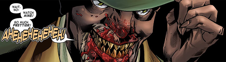 Cornell Cottonmouth with a blood-filled mouth (Marvel Comics)