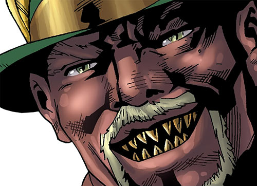 Cornell Cottonmouth (Power Man Cage enemy) (Marvel Comics) face closeup