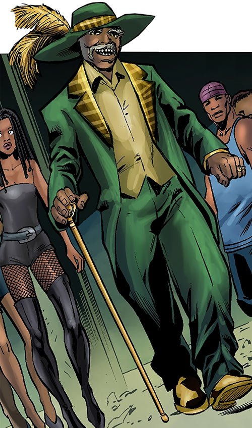 Cornell Cottonmouth (Power Man Cage enemy) (Marvel Comics) as a loud pimp