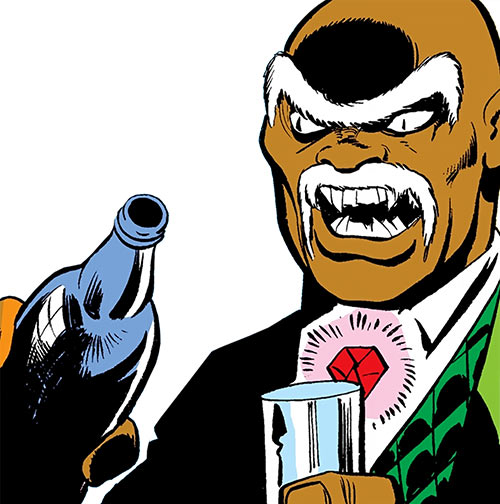 Cornell Cottonmouth (Power Man Cage enemy) (Marvel Comics) pouring a glass