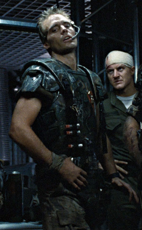 Corporal Hicks (Michael Biehns in Aliens) at the armory