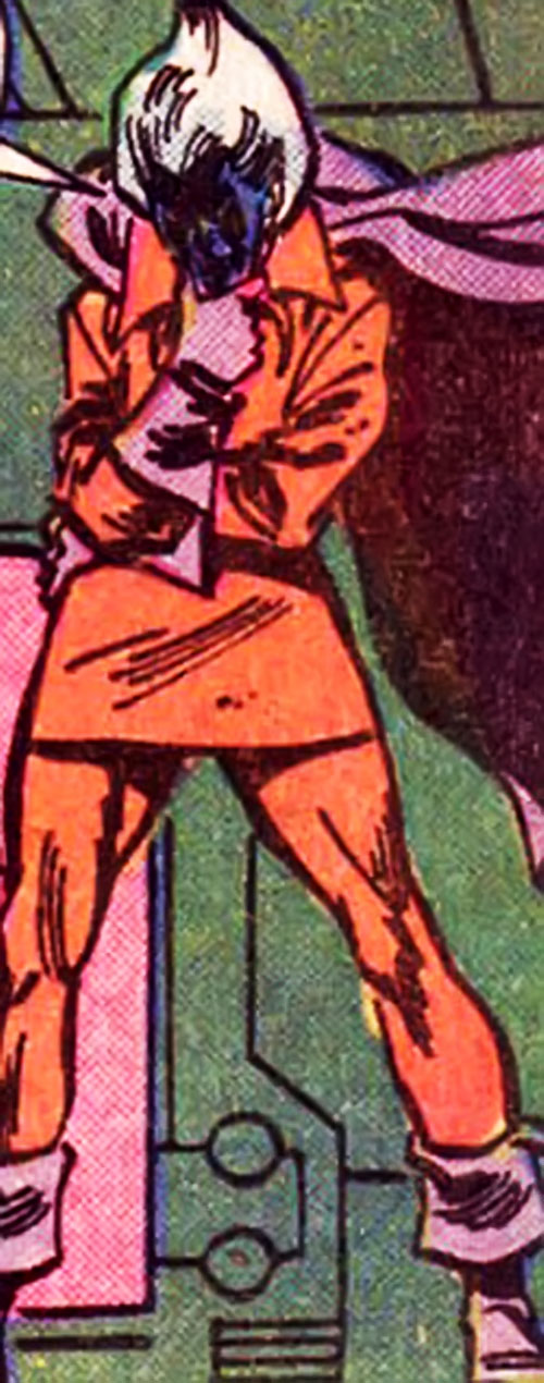 Corruptor (Nova enemy) (Marvel Comics) in the red costume with the purple cape