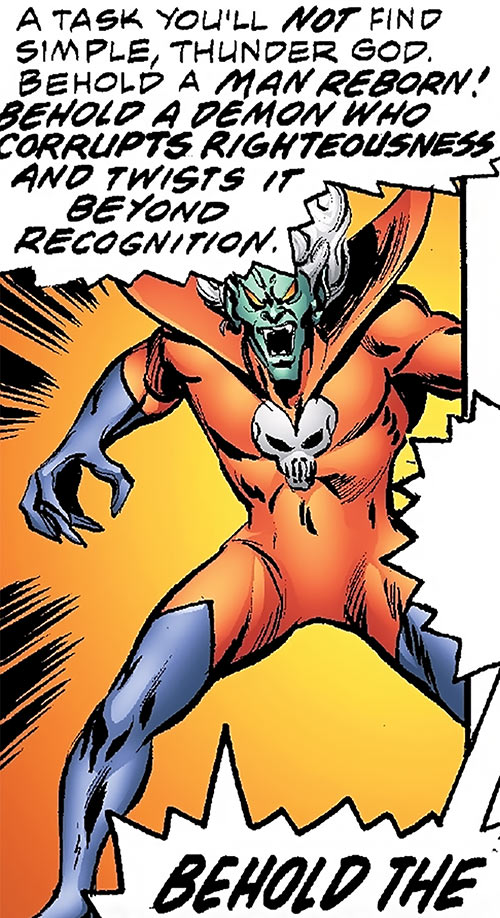Corruptor (Nova enemy) (Marvel Comics) in his red costume