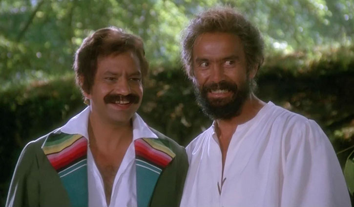 The Corsican Brothers (Cheech and Chong) grinning