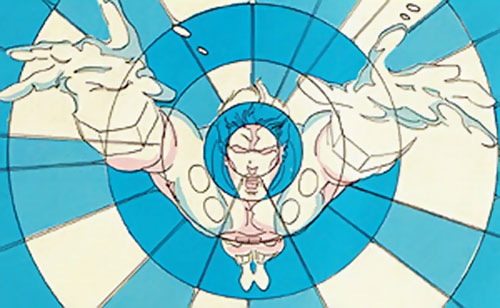 Cosmic Boy of the Legion of Super-Heroes (pre-reboot DC Comics) using his powers