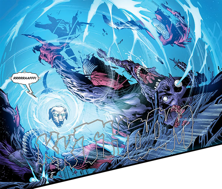 Cosmo unleashes a psionic attack