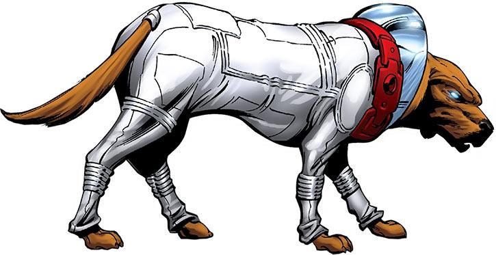 Cosmo the soviet cosmonaut dog - Marvel Comics - Handbook art