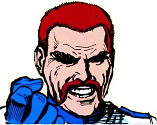 Cossack (Daredevil enemy) (Marvel Comics) face closeup