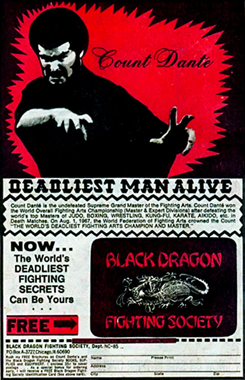 Count Dante - Deadliest Man Alive - Red Ad