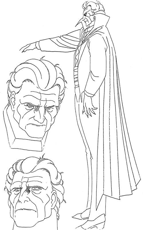 Vampire Hunter D concept art for Count Magnus Lee