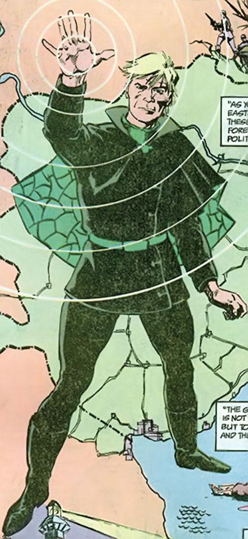 Count Vertigo (Suicide Squad member) (DC Comics) and a map montage