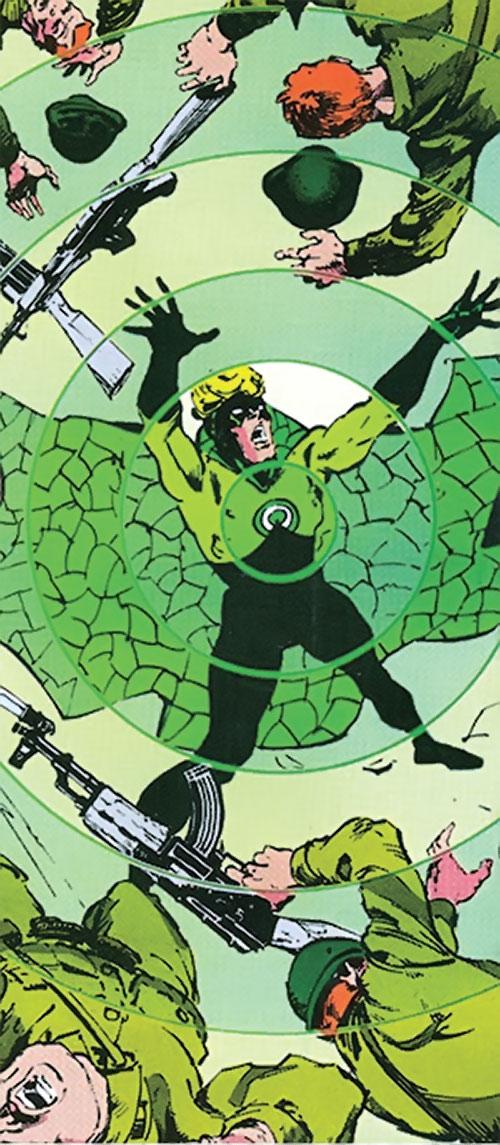 Count Vertigo (Suicide Squad member) (DC Comics) disperses soldiers