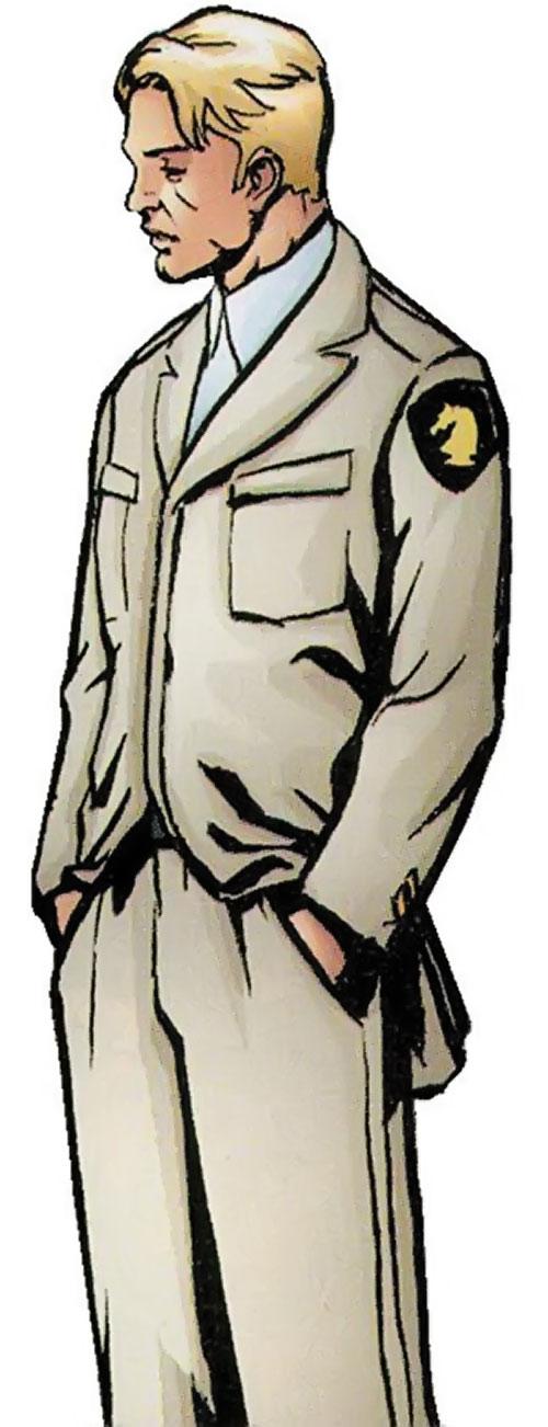 Count Vertigo (Suicide Squad member) (DC Comics) in a white Checkmate uniform