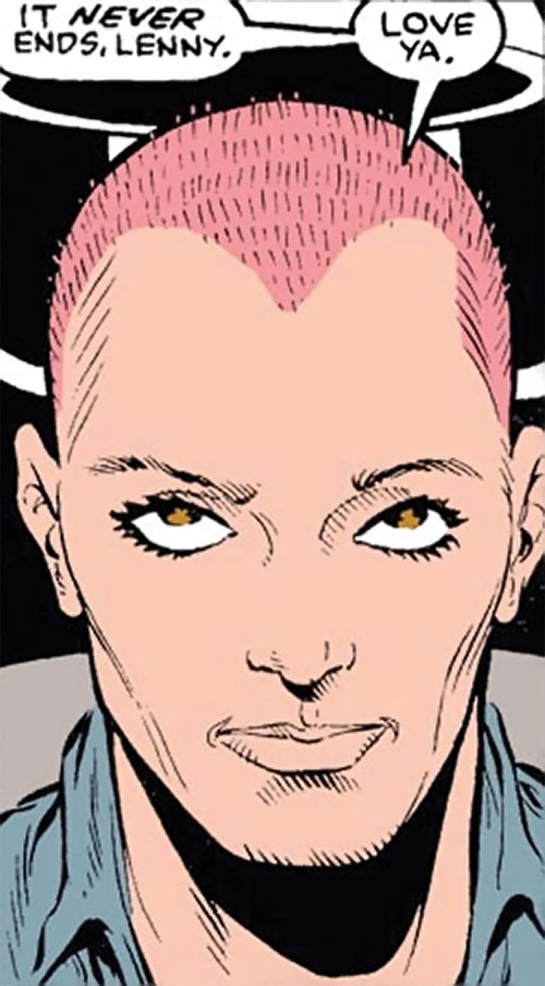 Crazy Eight (Marvel Comics) (Hulk character) closeup with shaved head
