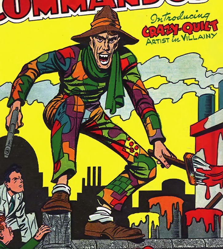 Crazy Quilt from the cover of his original Boy Commandos appearance