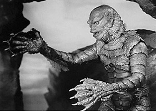 The Creature from the Black Lagoon (side view)