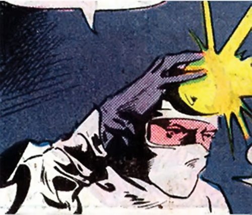 Crime Doctor (Batman enemy) (DC Comics) (Earth-1 pre-Crisis) using his head reflector
