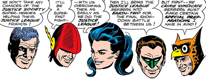 Crime Syndicate of America (DC Comics) (pre-Crisis Earth-3) floating heads