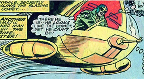 Crimebuster (Nova ally) (Marvel Comics) flying his vehicle