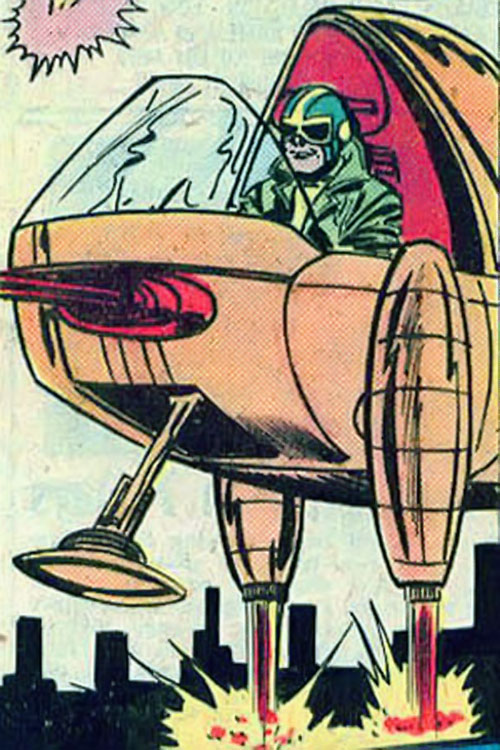 Crimebuster (Nova ally) (Marvel Comics) in his Crime Pod
