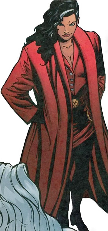 Crimson Cowl (Thunderbolts enemy) (Marvel Comics) (Justine Hammer) unmasked