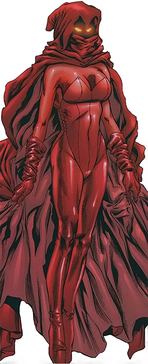 Crimson Cowl (Thunderbolts enemy) (Marvel Comics) (Justine Hammer)