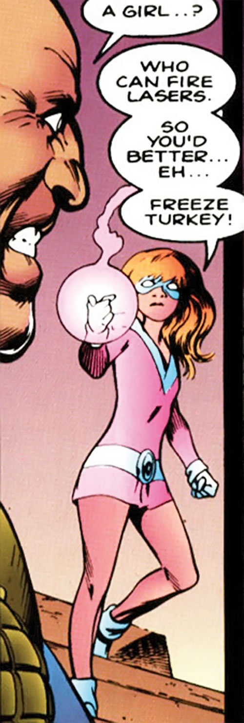 Imp of Clan Destine (Marvel Comics) with her hand smoking