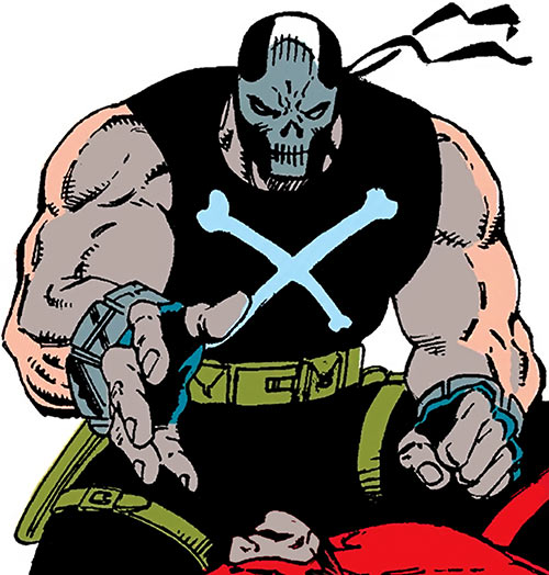 Crossbones (Marvel Comics) (Captain America enemy) crouching