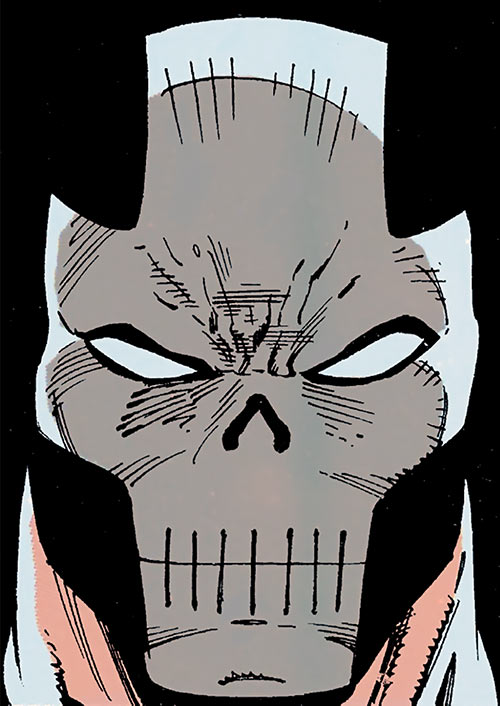 Crossbones (Marvel Comics) (Captain America enemy) mask closeup