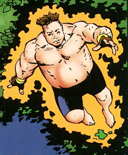 Cruiser (Sovereign 7) (DC Comics) telekinetically floating in shorts