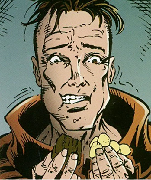 Cruiser (Sovereign 7) (DC Comics) eating while emaciated
