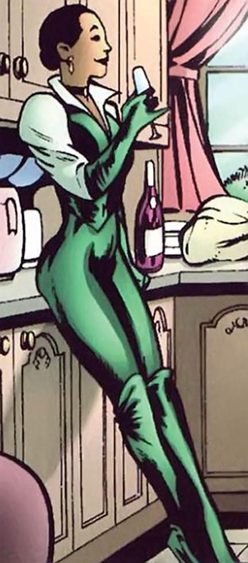Cuckoo of Clan Destine (Marvel Comics) in her green emmapeeler