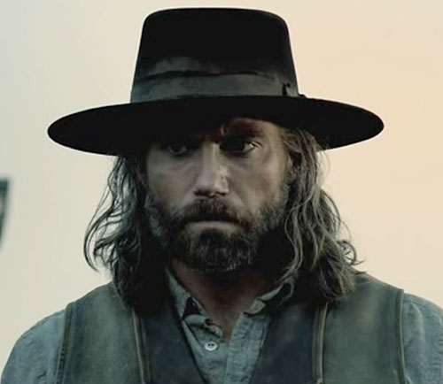 Cullen Bohannon (Anson Mount in Hell on Wheels) hat and long hair