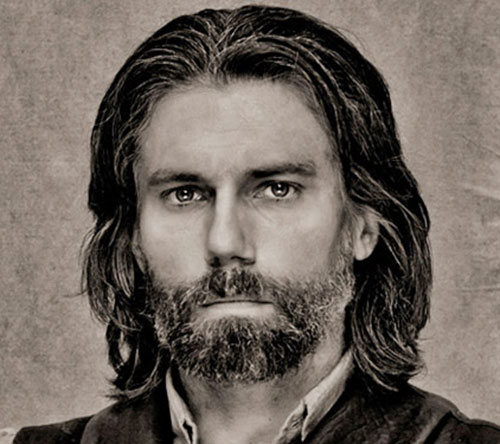 Cullen Bohannon (Anson Mount in Hell on Wheels) B&W photo portrait