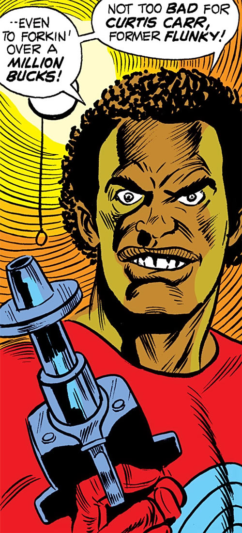 Chemistro (Luke Cage enemy) (Marvel Comics) face closeup